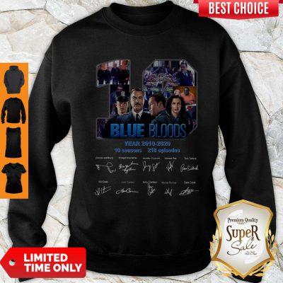 Blue Bloods 10 Years 2010 2020 10 Seasons 218 Episodes Signature Sweatshirt
