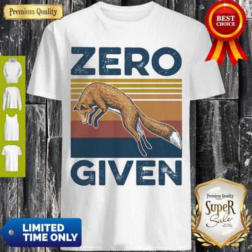 Official Fox Zero Given Retro Shirt
