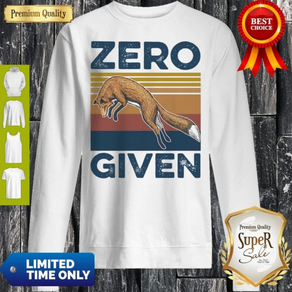 Official Fox Zero Given Retro Sweatshirt