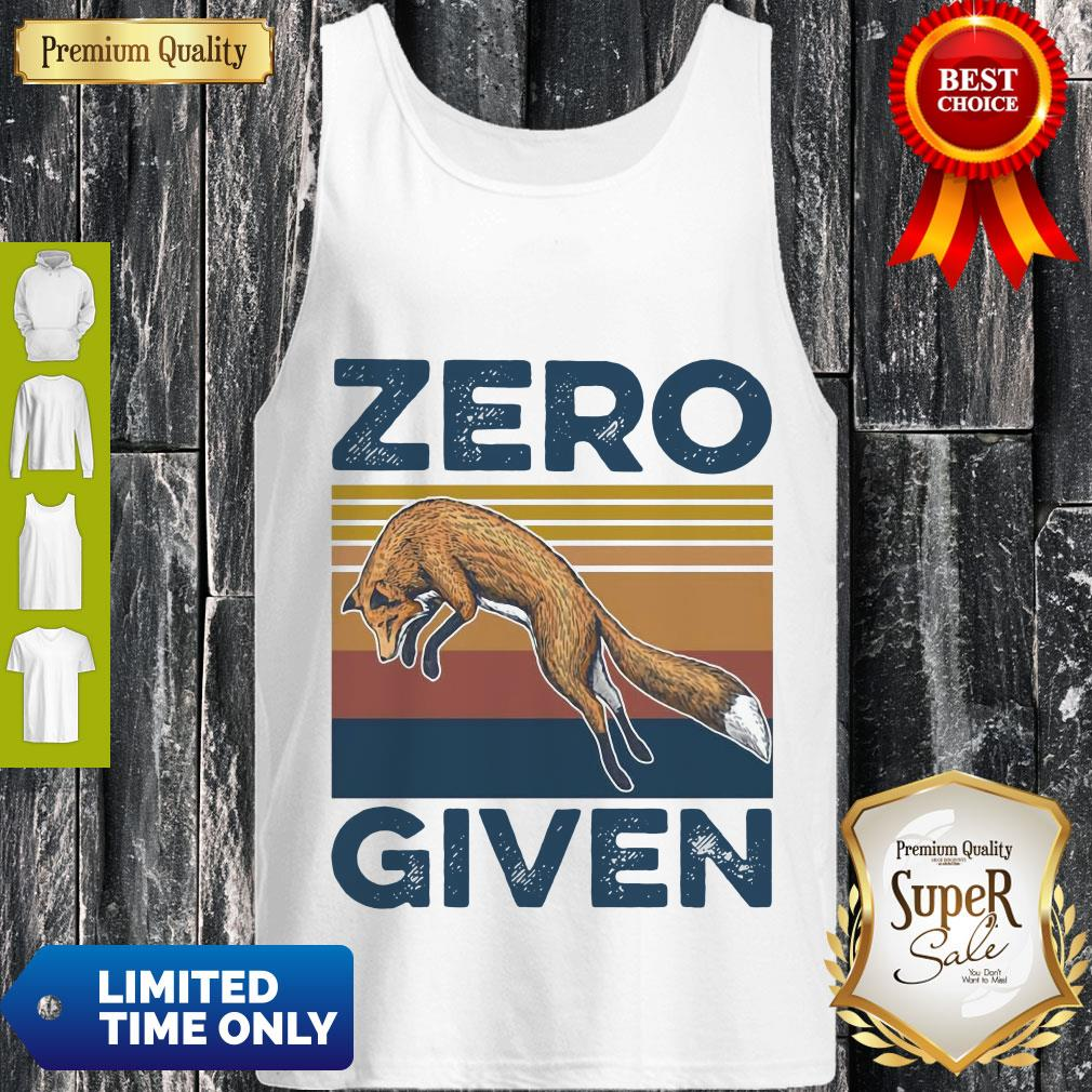 Official Fox Zero Given Retro Tank Top