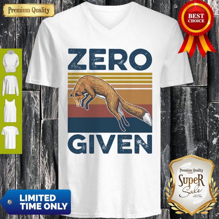 Official Fox Zero Given Retro V-neck