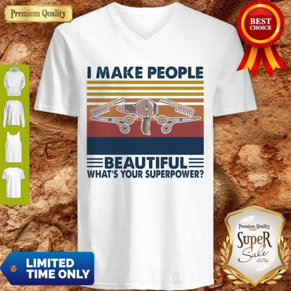 Hairstyle II Make People Beautiful What's Your Superpower Vintage V-neck