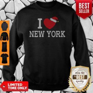 I Heart New York Christmas Santa Hat New York Strong Love Sweatshirt