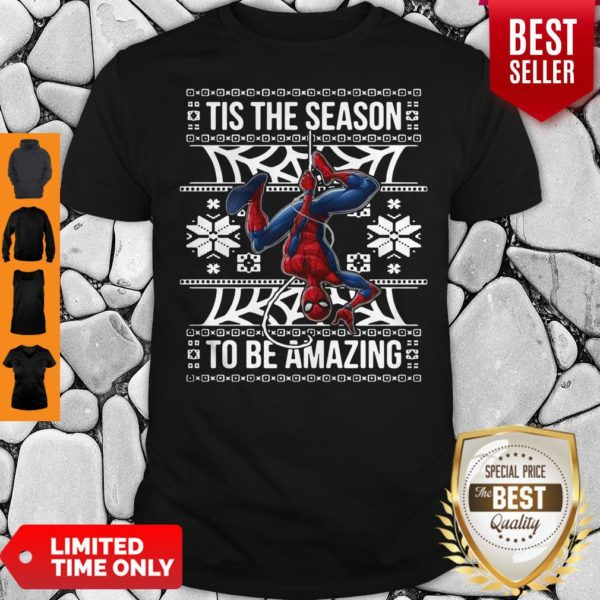Marvel Spider Man Tis The Season To Be Amazing Ugly Christmas Shirt