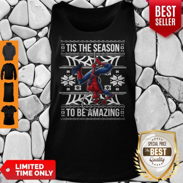 Marvel Spider Man Tis The Season To Be Amazing Ugly Christmas Tank Top