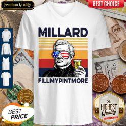 Millard Fillmypintmore Drink Drink 4th Of July Vintage V-neck