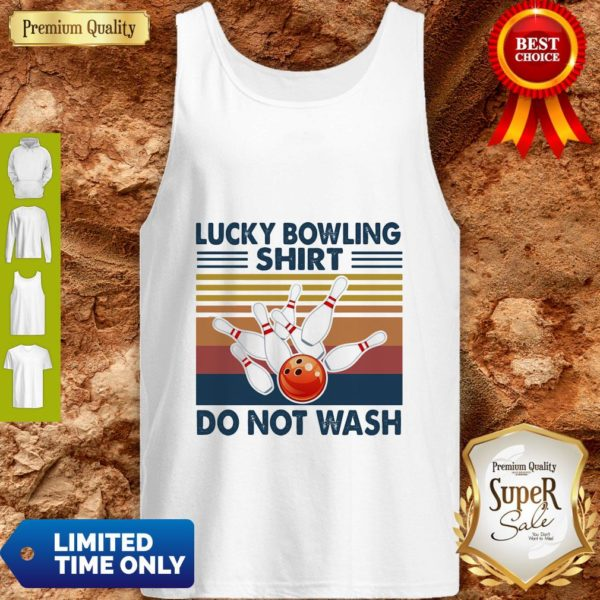 Official Lucky Bowling Shirt Do Not Wash Vintage Tank Top