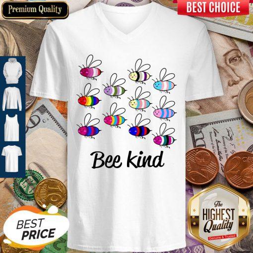 Premium LGBT Bee Kind V-neck