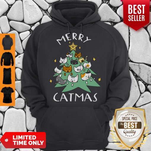 Premium Merry Catmas Funny Cool Christmas Hoodie