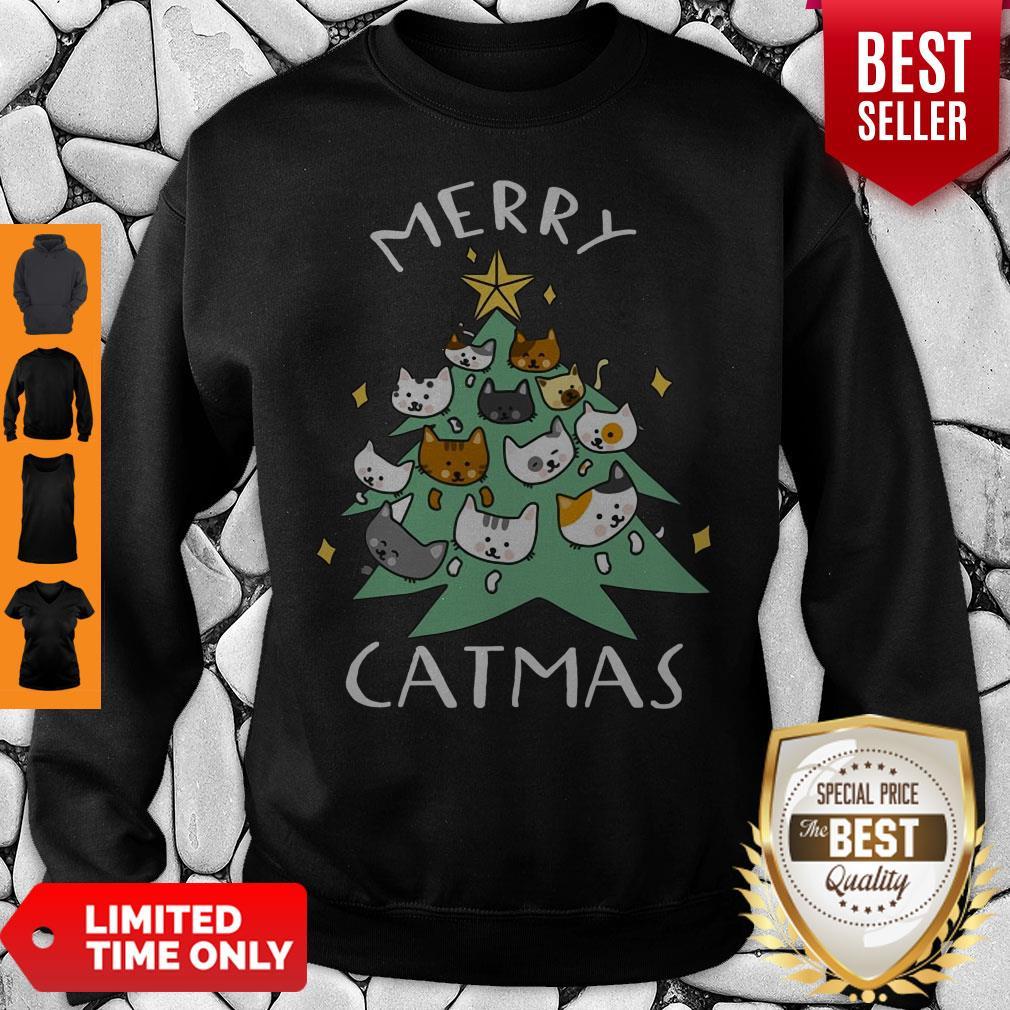 Premium Merry Catmas Funny Cool Christmas Sweatshirt