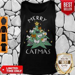 Premium Merry Catmas Funny Cool Christmas Tank Top