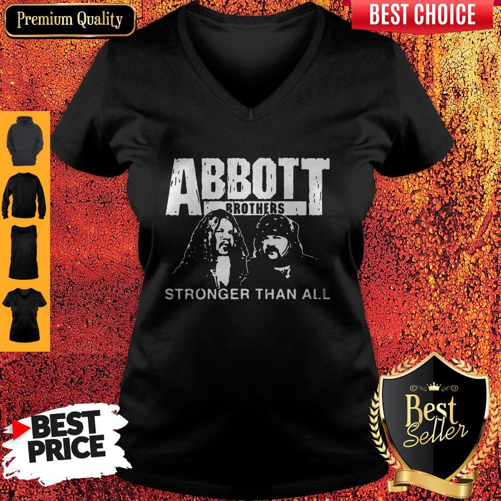 Pretty Abbott Brothers Stronger Than All V-neck