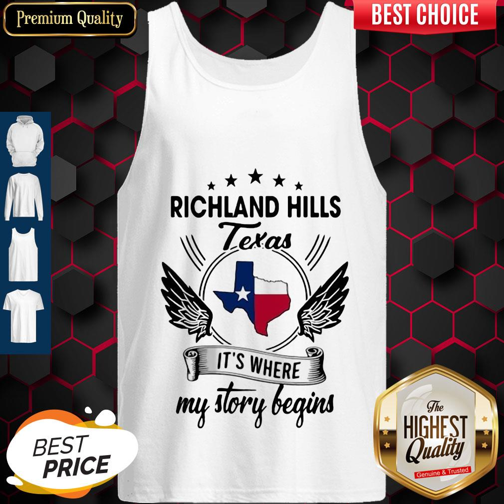 Richland Hills Texas It's Where My Story Begins Map Tank Top