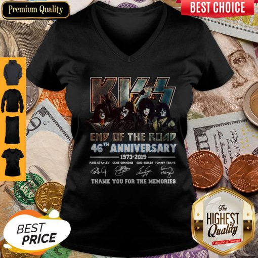 Signature The Final Tour Ever Kiss End Of The Road World Tour V-neck