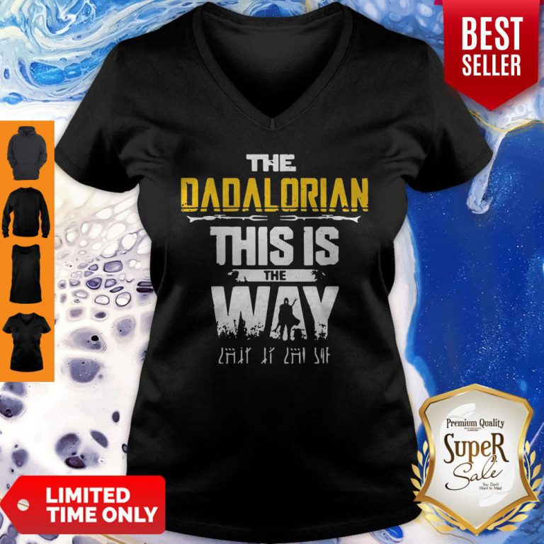 Top The Dadalorian This Is The Way Father's Day V-neck
