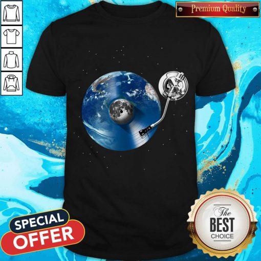 Awesome Disc Jockey Vinyl Earth Shirt