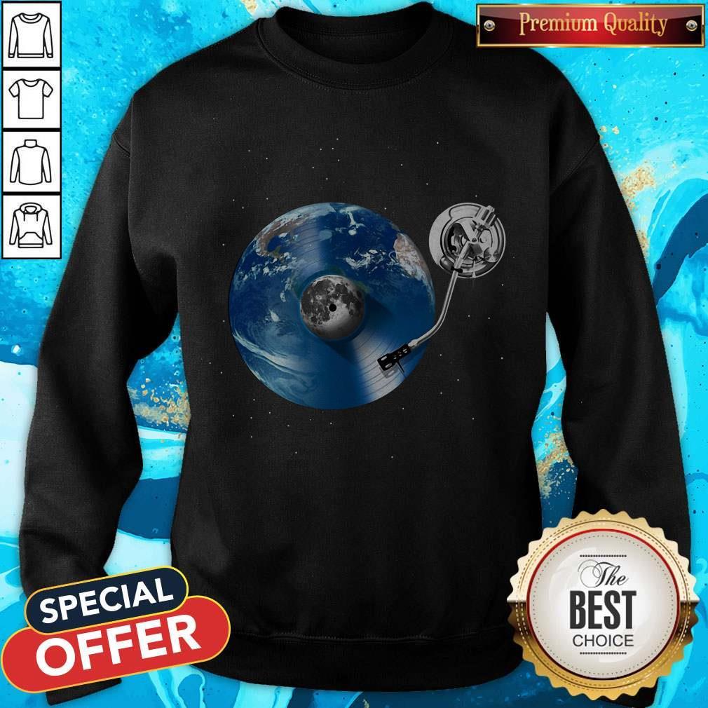 Awesome Disc Jockey Vinyl Earth Sweatshirt