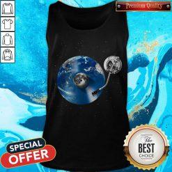 Awesome Disc Jockey Vinyl Earth Tank Top