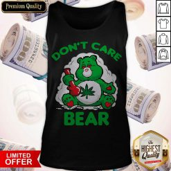Awesome Don't Care Bear Tank Top
