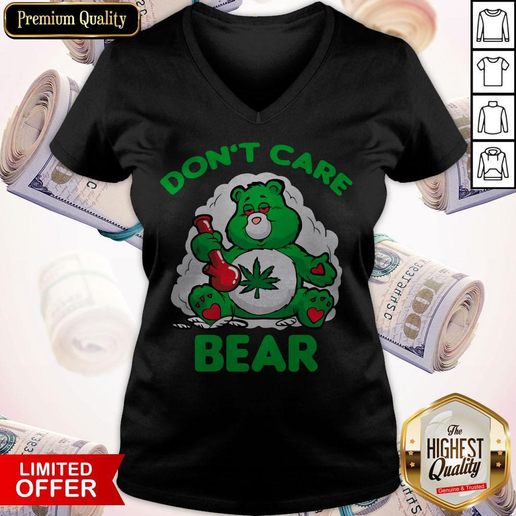 Awesome Don't Care Bear V-neck