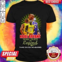 Awesome Kobe Bryant The Man The Myth The Legend Thank You For The Memories Shirt