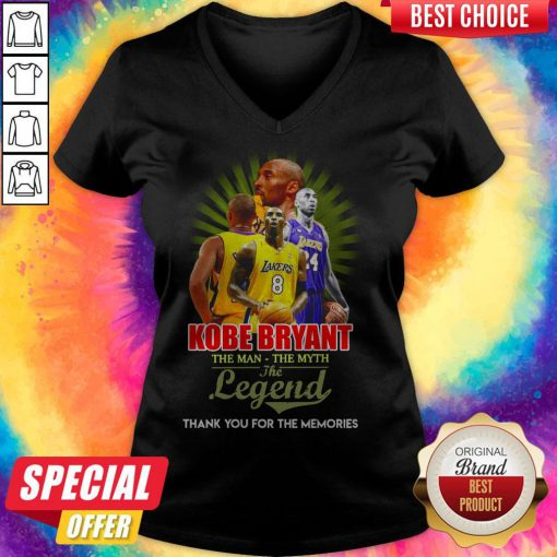 Awesome Kobe Bryant The Man The Myth The Legend Thank You For The Memories V-neck