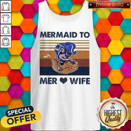 Awesome Mermaid To Mer Love Wife Vintage Tank Top