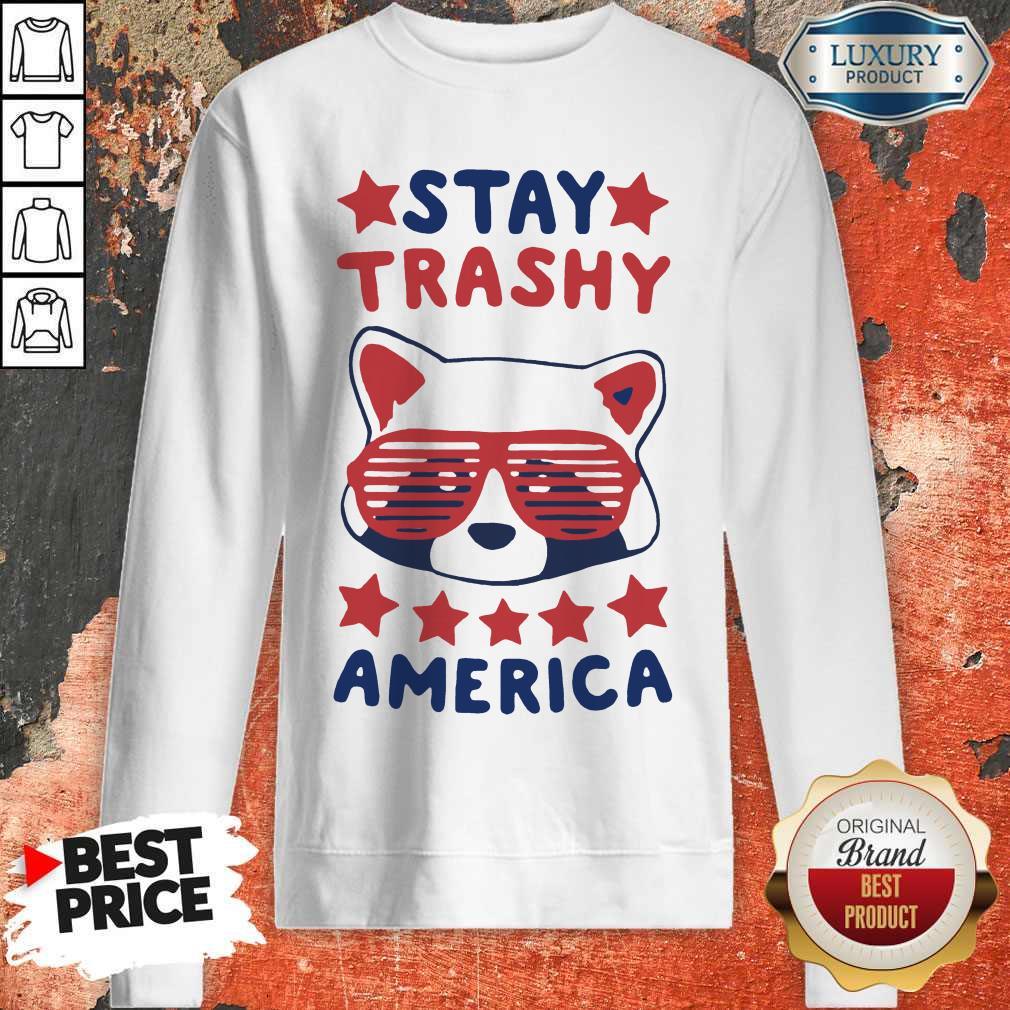 Awesome Racoon Stay Trash America Sweatshirt