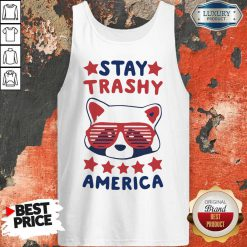 Awesome Racoon Stay Trash America Tank Top