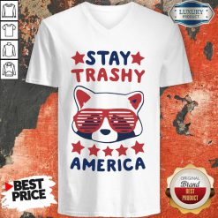 Awesome Racoon Stay Trash America V-neck