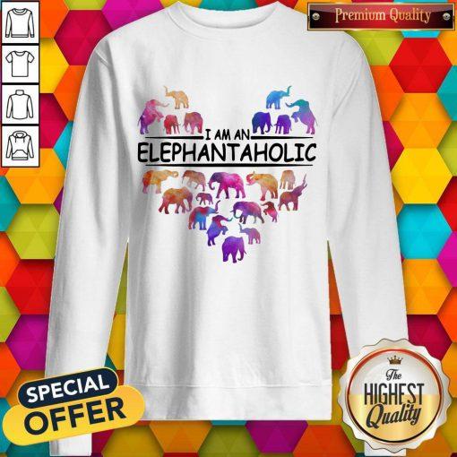 Colorful I Am An Elephant Aholic Sweatshirt