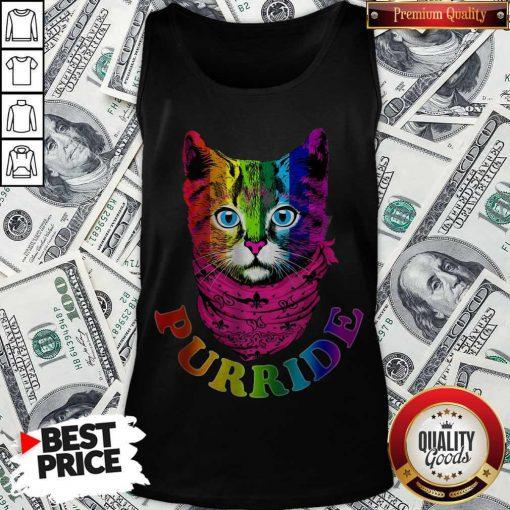 Colorful Pride Cat Gay Pride Tank Top