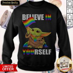 Cute Baby Yoda Believe In Yourself LGBT Price Sweatshirt