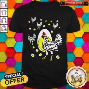 Cute Black Hens White Eggs Shirt