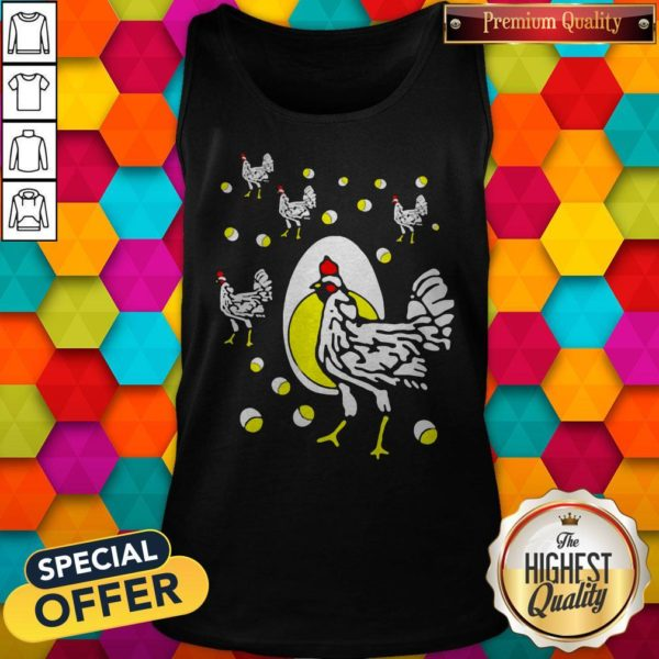 Cute Black Hens White Eggs Tank Top