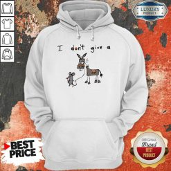 Cute I Don't Give A Rats Ass Mouse Walking Donkey Hoodie