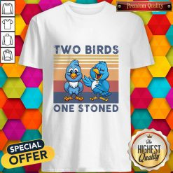 Cute Two Blue Birds One Stoned Vintage Shirt