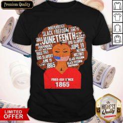 Funny Black Woman Juneteenth Since 1865 Free-ish Shirt