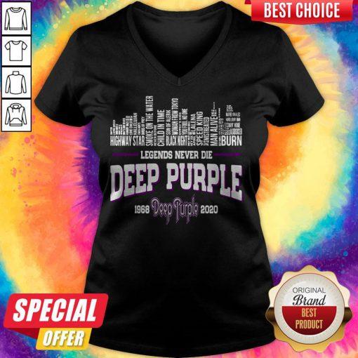 Good Legends Never Die Deep Purple 1968 2020 V-neck
