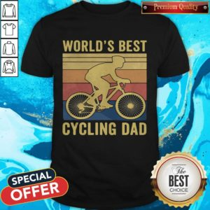 Good Worlds Best Cycling Dad Vintage Retro Shirt