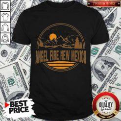 Nice Angel Fire New Mexico Mountain Print Shirt