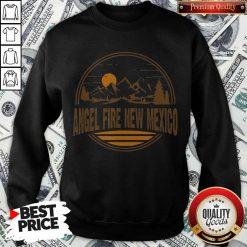 Nice Angel Fire New Mexico Mountain Print Sweatshirt