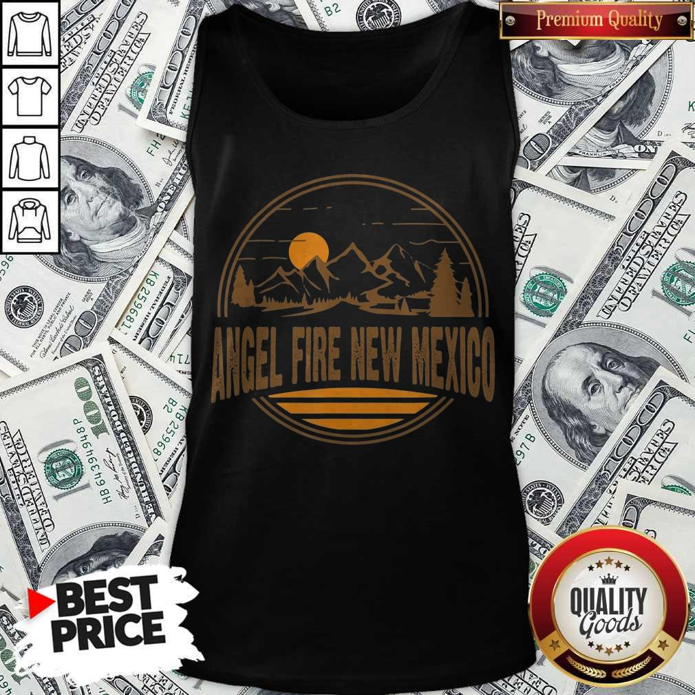 Nice Angel Fire New Mexico Mountain Print Tank Top