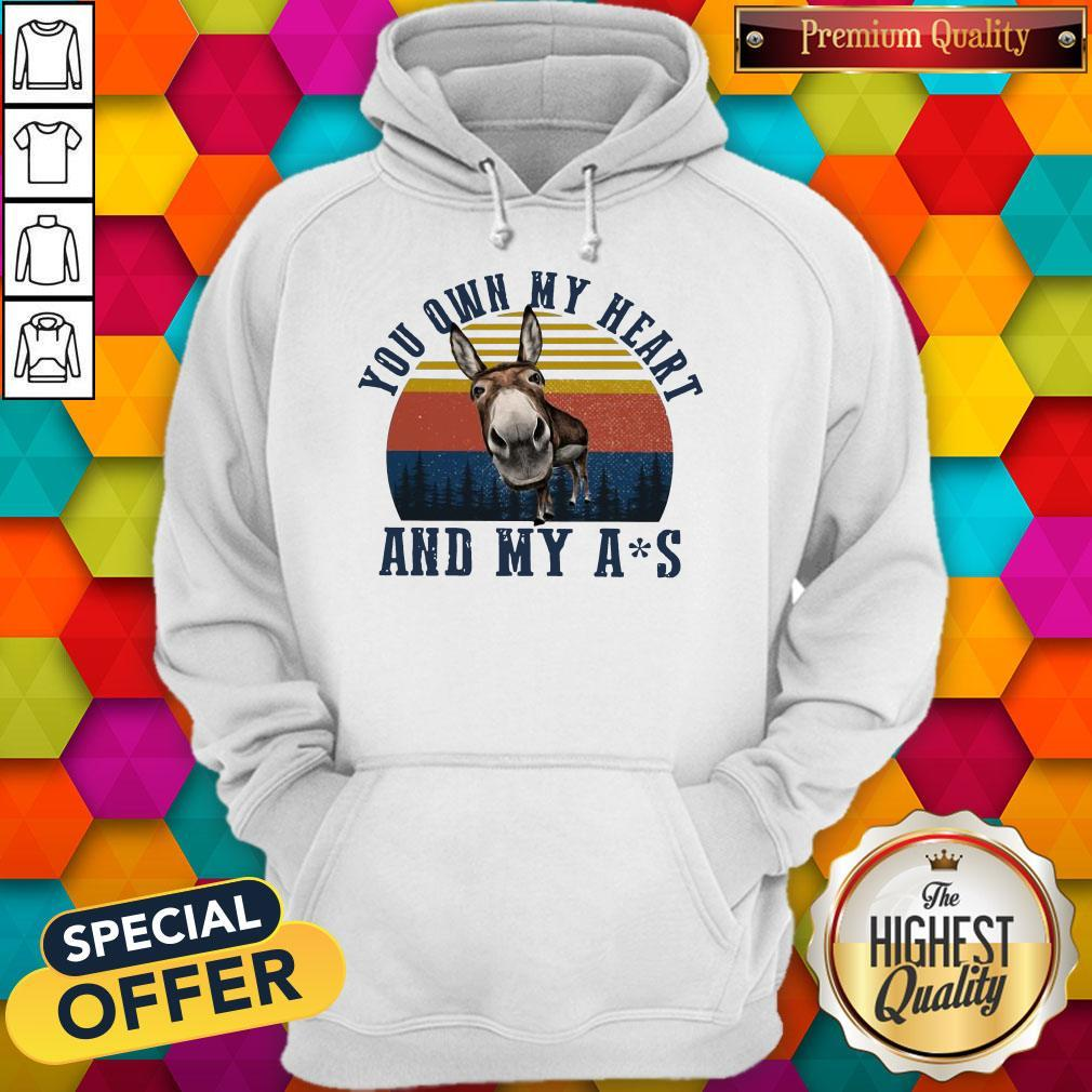 Nice Mule You Own My Heart And My Ass Vintage Hoodie