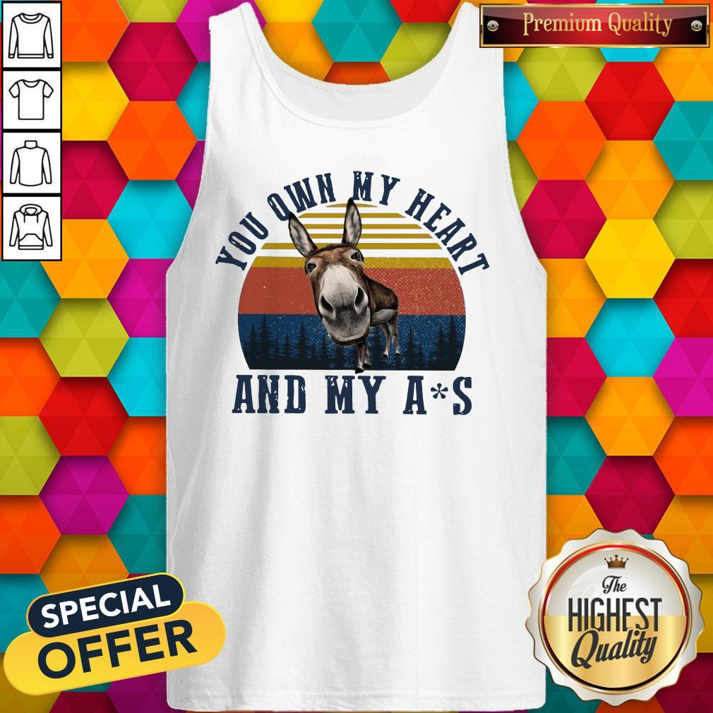 Nice Mule You Own My Heart And My Ass Vintage Tank Top