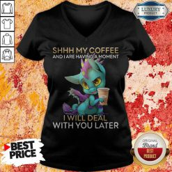 Nice Shhh My Coffee And I Are Having A Moment I Will Deal With You Later V-neck
