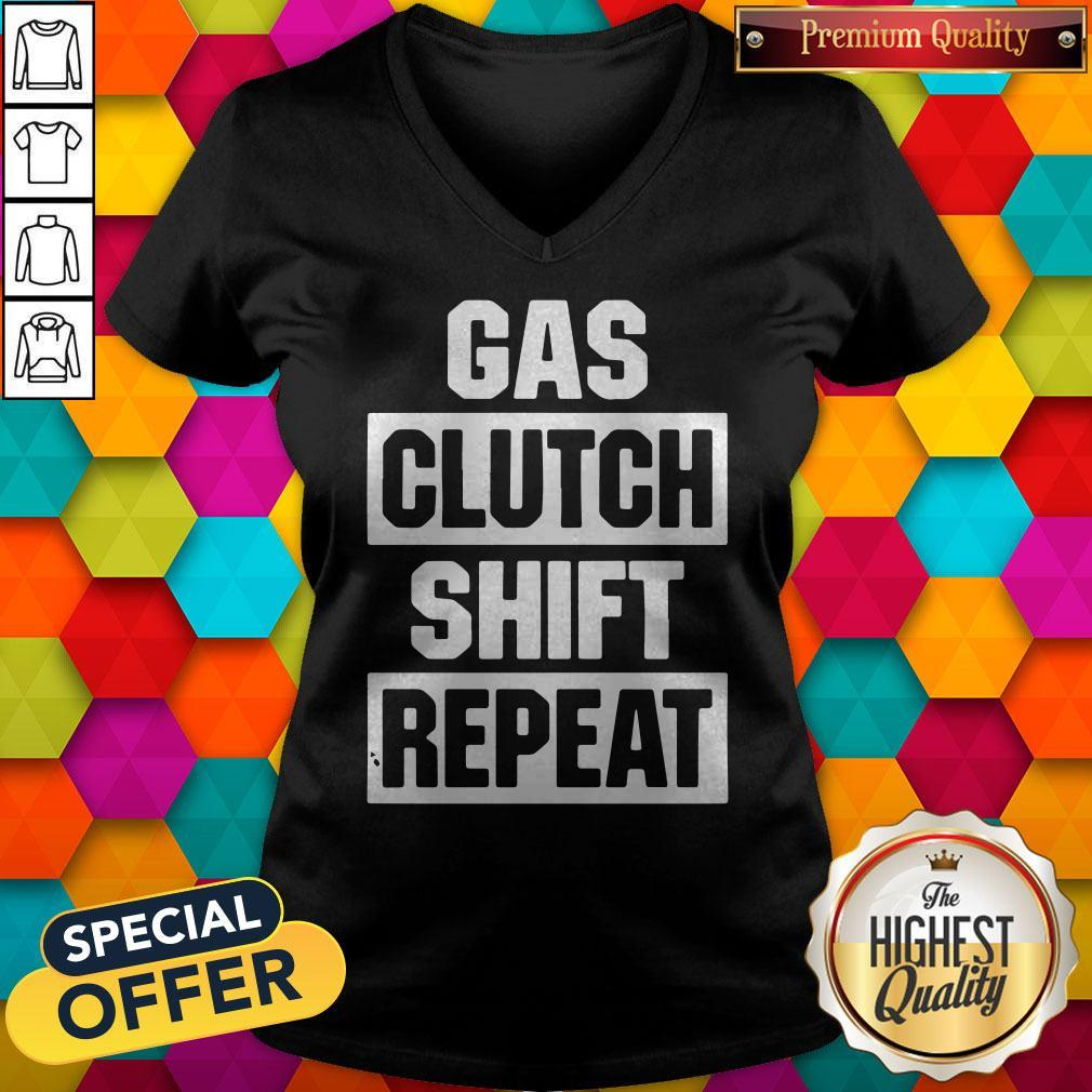 Official Gas Clutch Shift Repeat V-neck