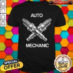 Perfect Auto Mechanic Two Screws White Shirt