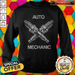Perfect Auto Mechanic Two Screws White Sweatshirt