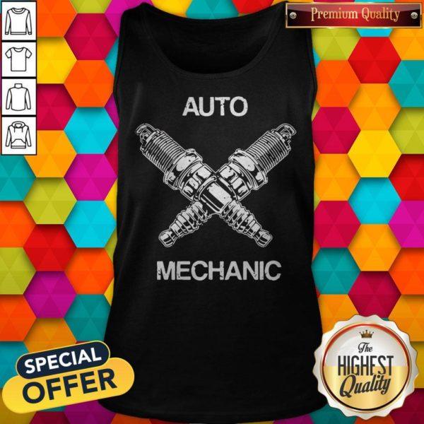 Perfect Auto Mechanic Two Screws White Tank top